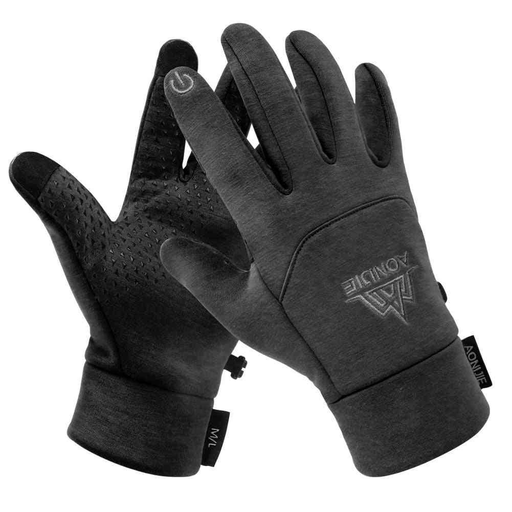 Men, Women Winter Themal Fleece Gloves, Anti-slip, Windproof For Camping, Hiking, Running