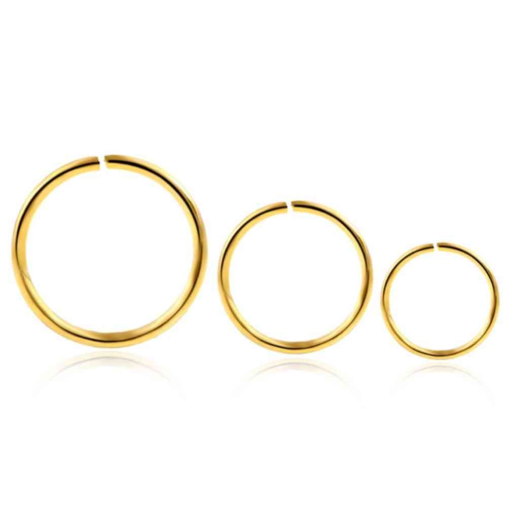 Stainless Steel Seamless Segment Nose Rings