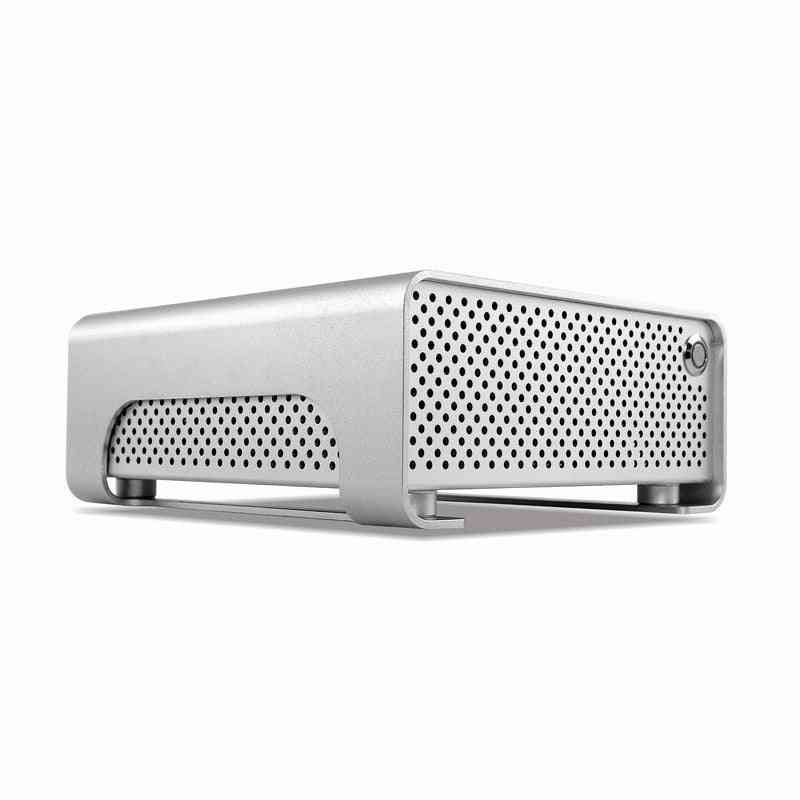 Aluminum- Mini Metal Gear, Htpc/ Itx Cases For Computer Gaming With Power Supply