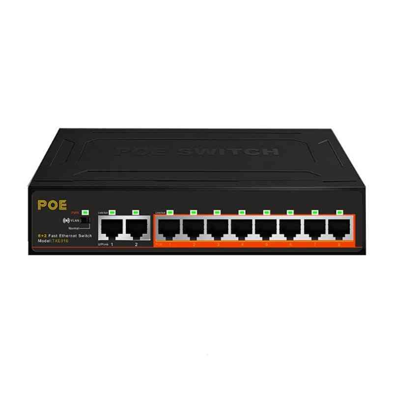 8+2 Ports Poe Switch With Internal Power Supply, Monitoring Camera, Wireless Lighting