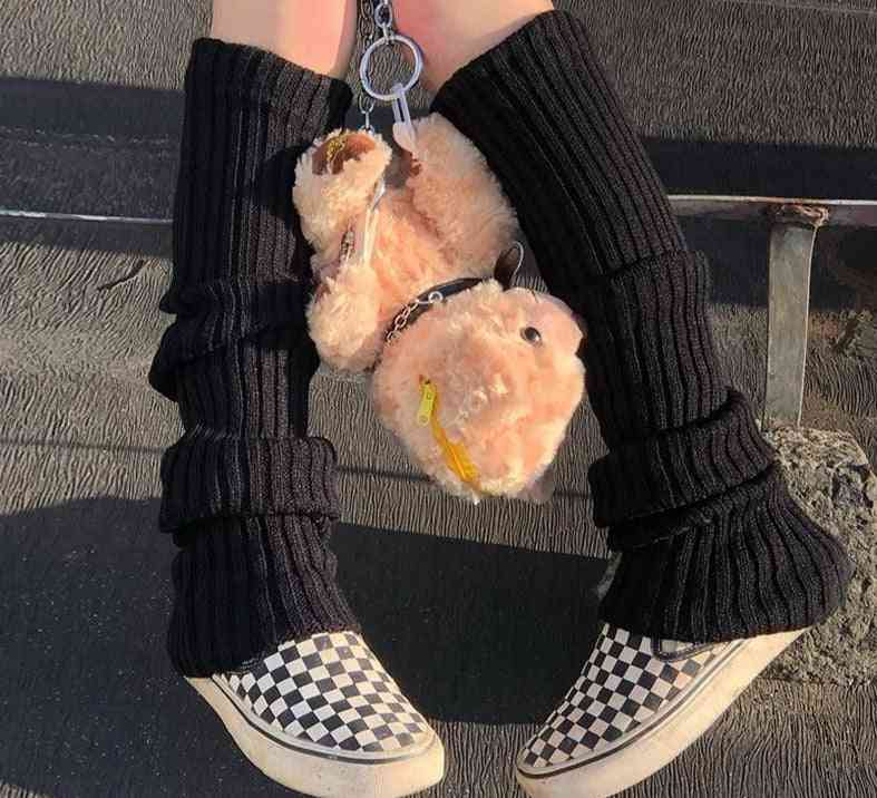 Punk Cool Knit Long Socks, Women Outdoor Knee High Elastic Leg Warmers