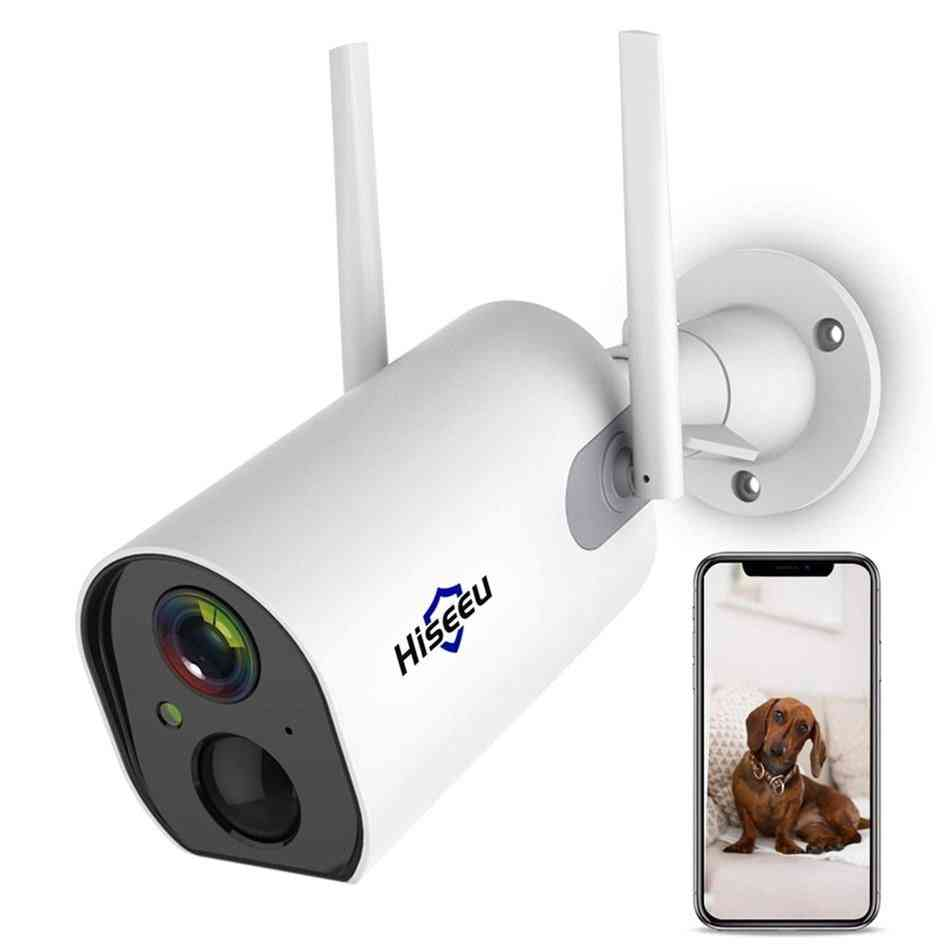 Wireless Outdoor, Security Ip, Battery Powered, Rechargeable Camera