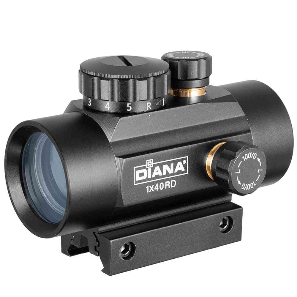 Red Green Dot Sight Scope Tactical Optics Riflescope Fit Rail Rifle Scopes Hunting
