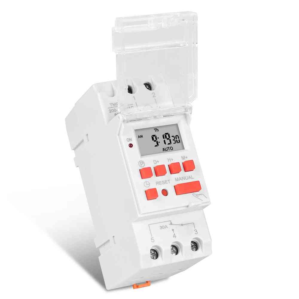 Programmable Digital Time, Switch Relay Timer Control, Din Rail Mount