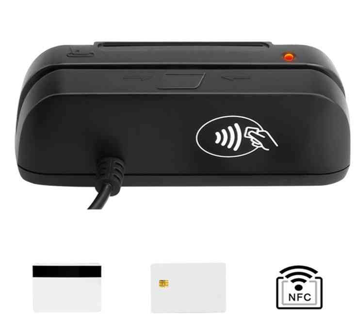 3-in-1 Combo Credit Card, Magnetic Emv Chip, Rfid Nfc, Reader Writer