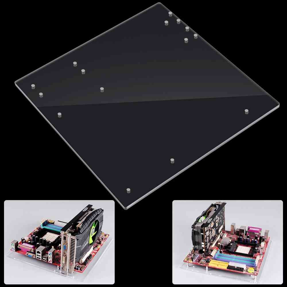 Pc Open Frame Test Bench, Mini Motherboard Acrylic Overlock Computer Case