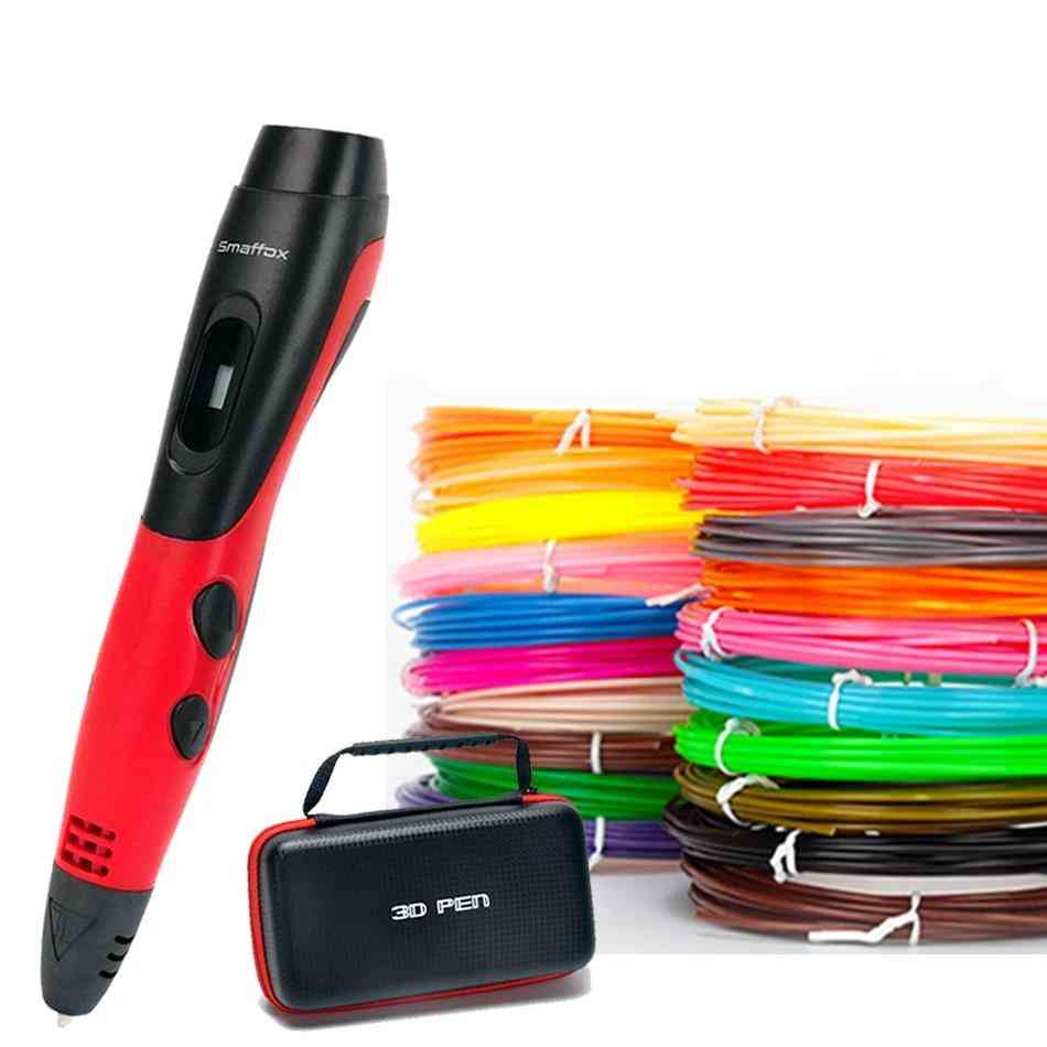 3d Filament Printing & Drawing Pen With Lcd Display
