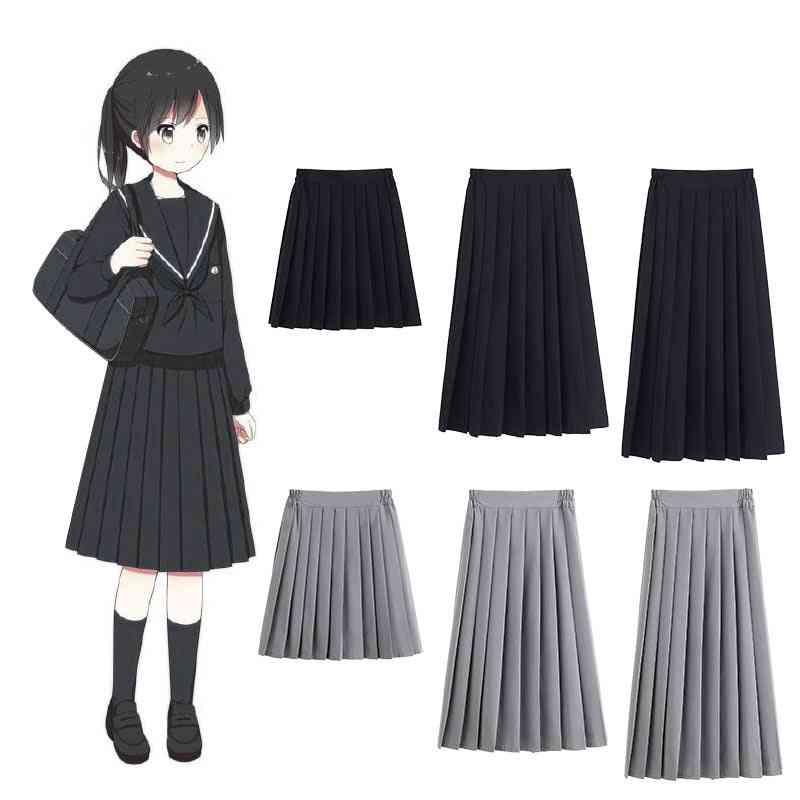 High School Student, Academy Style Bottoms Pleated Skirt