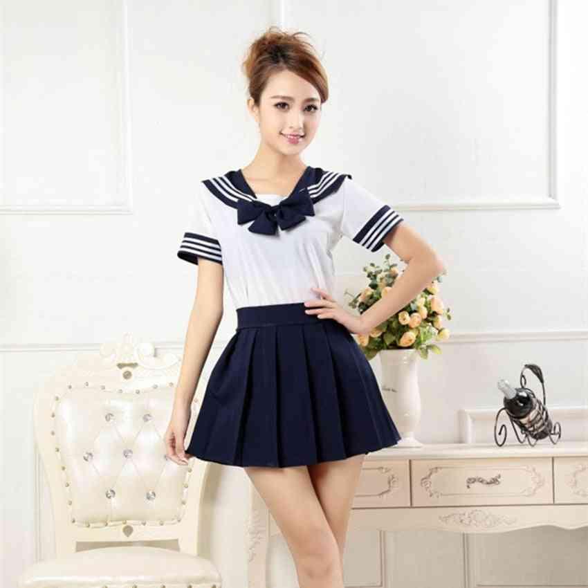 Japanese Style Tops & Pleated Skirt Set