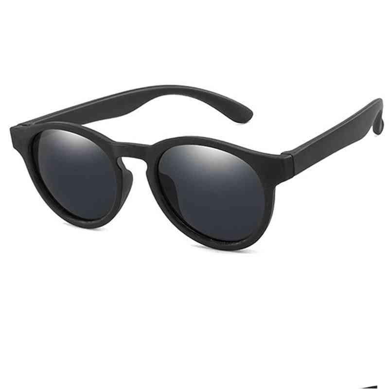 Round Polarized, Silicone Safety, Shades Eyewear, Uv400 Sunglasses For And
