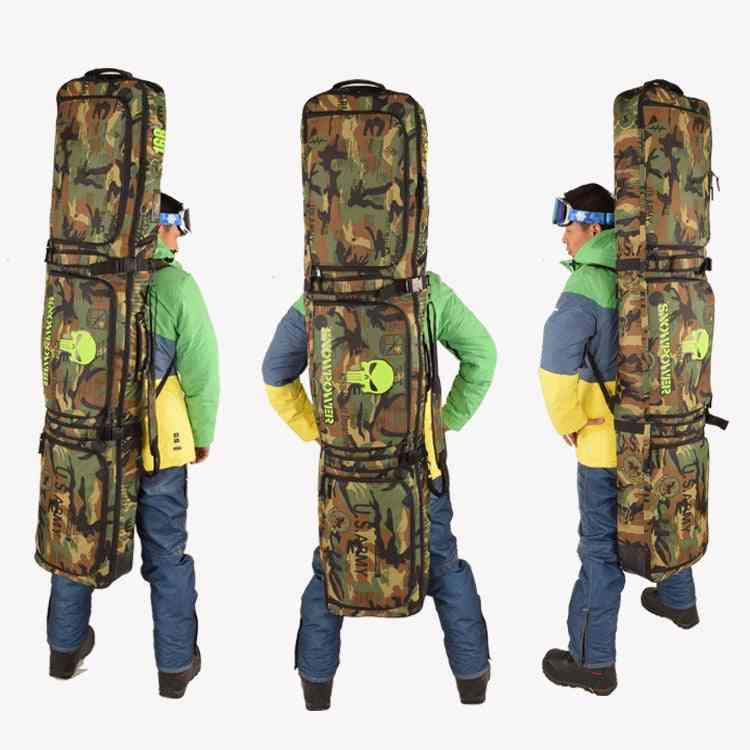 All Stuff Bag,snowboard, Skis Backpack Crossbody Belt Padded, Thick Cushion Camouflage