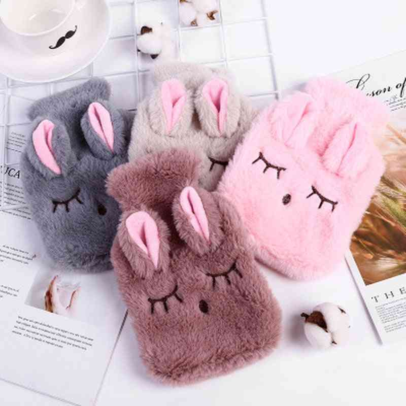 Cute Pvc Stress Pain Relief Therapy Hot Water Bottle Knitted Cover