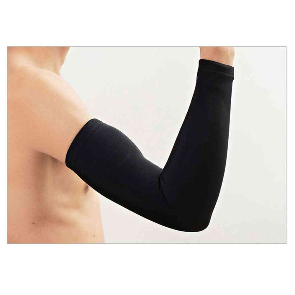 Breathable Sun Uv Protection Running Arm Sleeves Basketball Elbow Pad