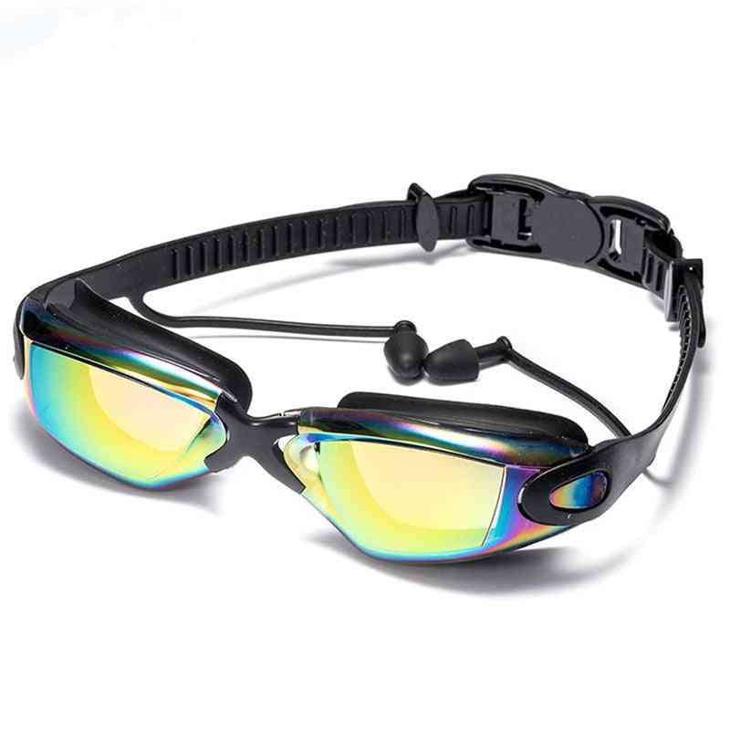 Waterproof Hd Anti-fog, Uv Silicone Glasses, Electroplate Clear Goggles