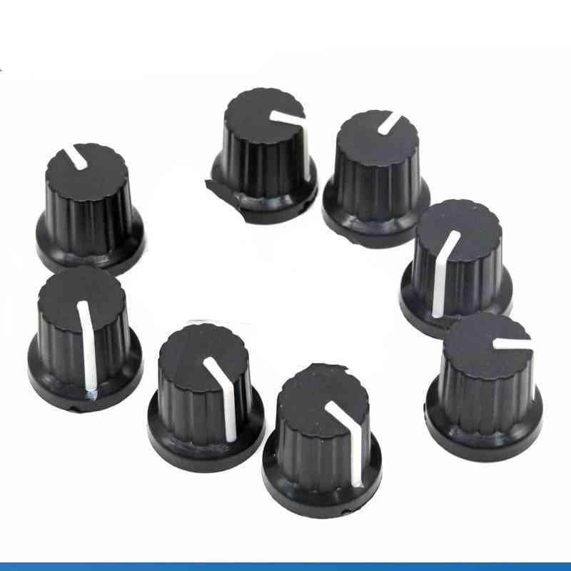 Shaft Hole Dia, Plastic Threaded Knurled, Potentiometer Knobs Caps