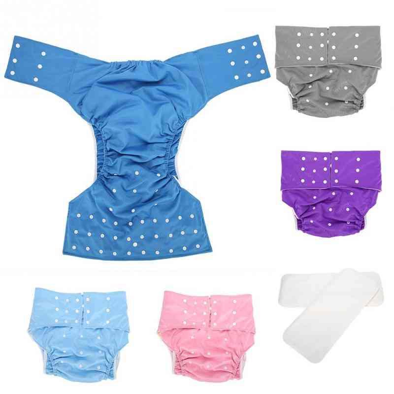 Adjustable Reusable, Cloth Adult Diaper, Pants Underwear