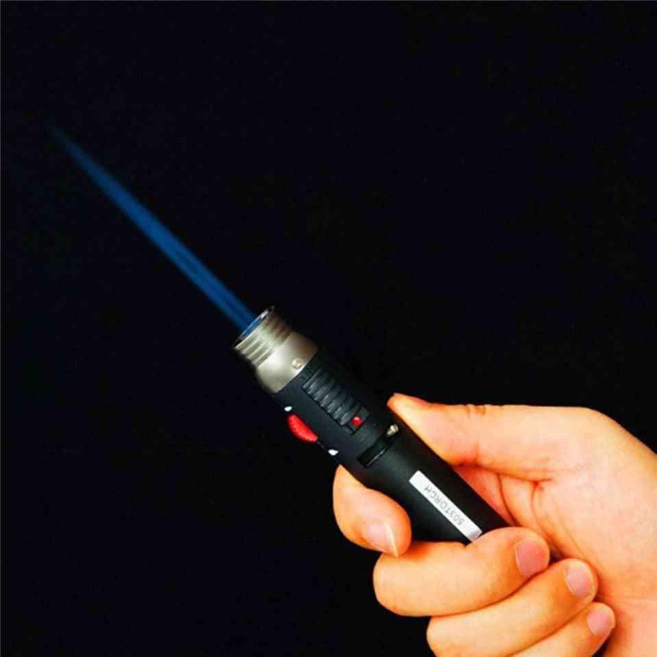 Outdoor Lighter Jet Flame Pencil,  Gas Refillable Fuel Welding Soldering Pen