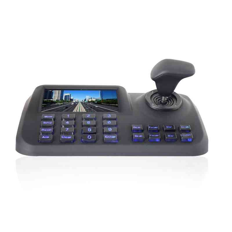 Onvif Support 3d Cctv Ip Ptz Controller Ip-ptz Joystick & Keyboard With Lcd Screen