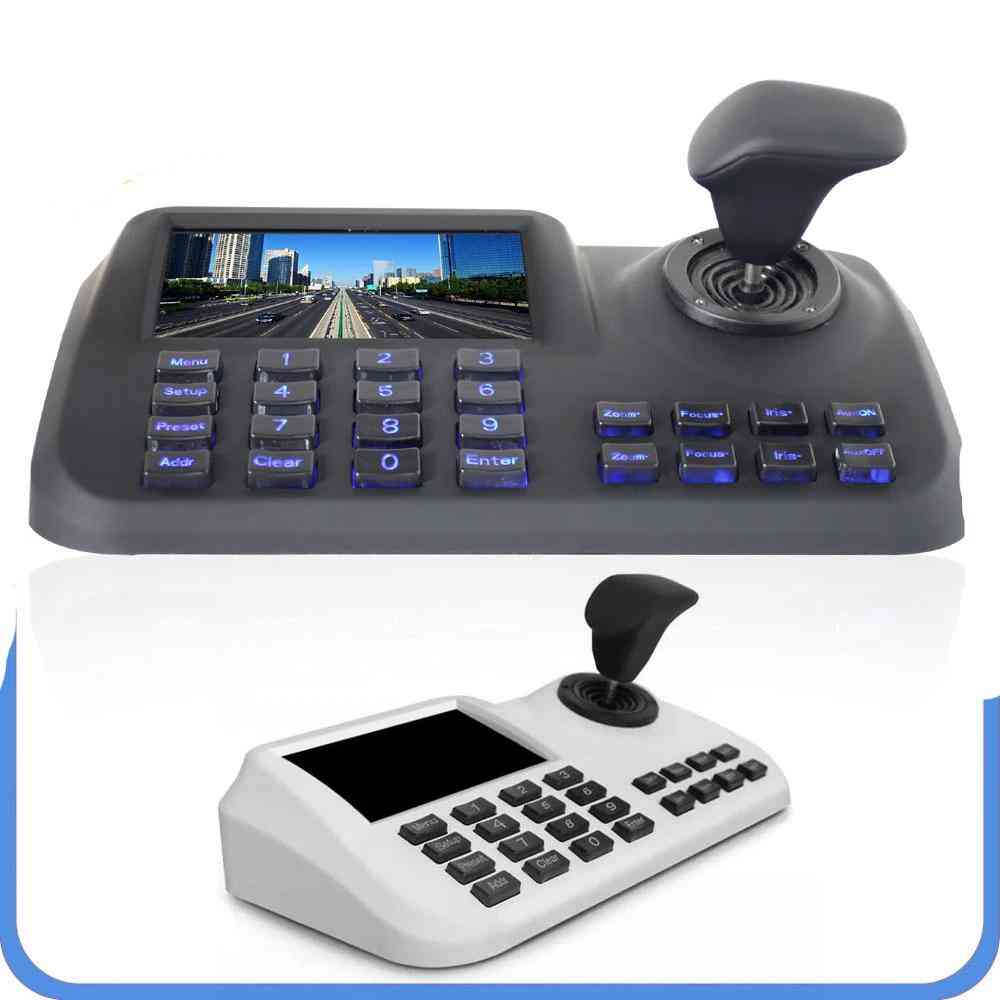 3d Cctv Ip Ptz Joystick Controller Keyboard With 5 Inch Lcd Screen For Ip Ptz Camera