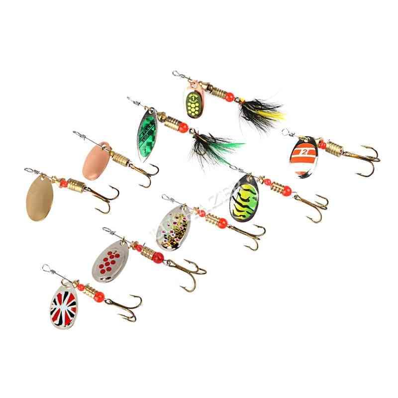 10pcs- Fishing Spoon, Lures Spinner Wobbler, Metal Baits