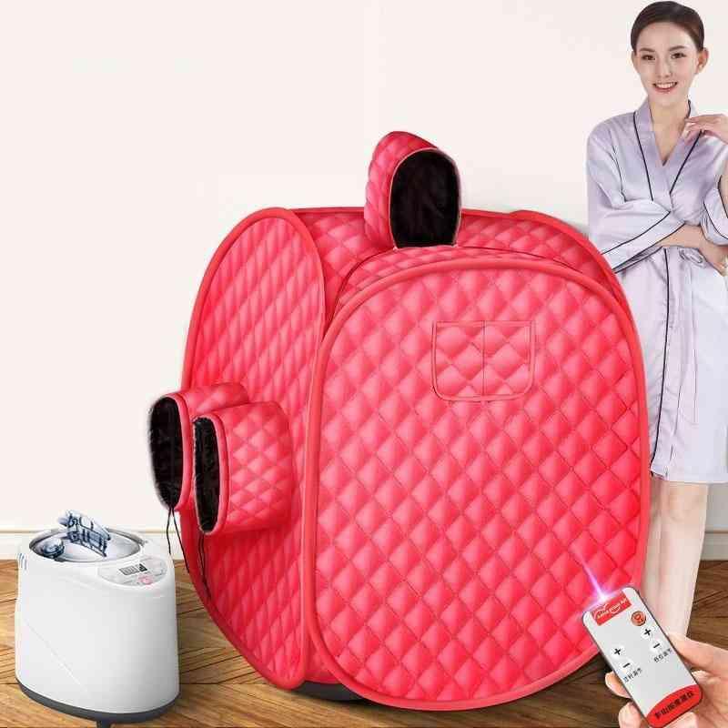 Steam Sauna Portable Spa Room Home Beneficial Full Body Slimming Folding Detox