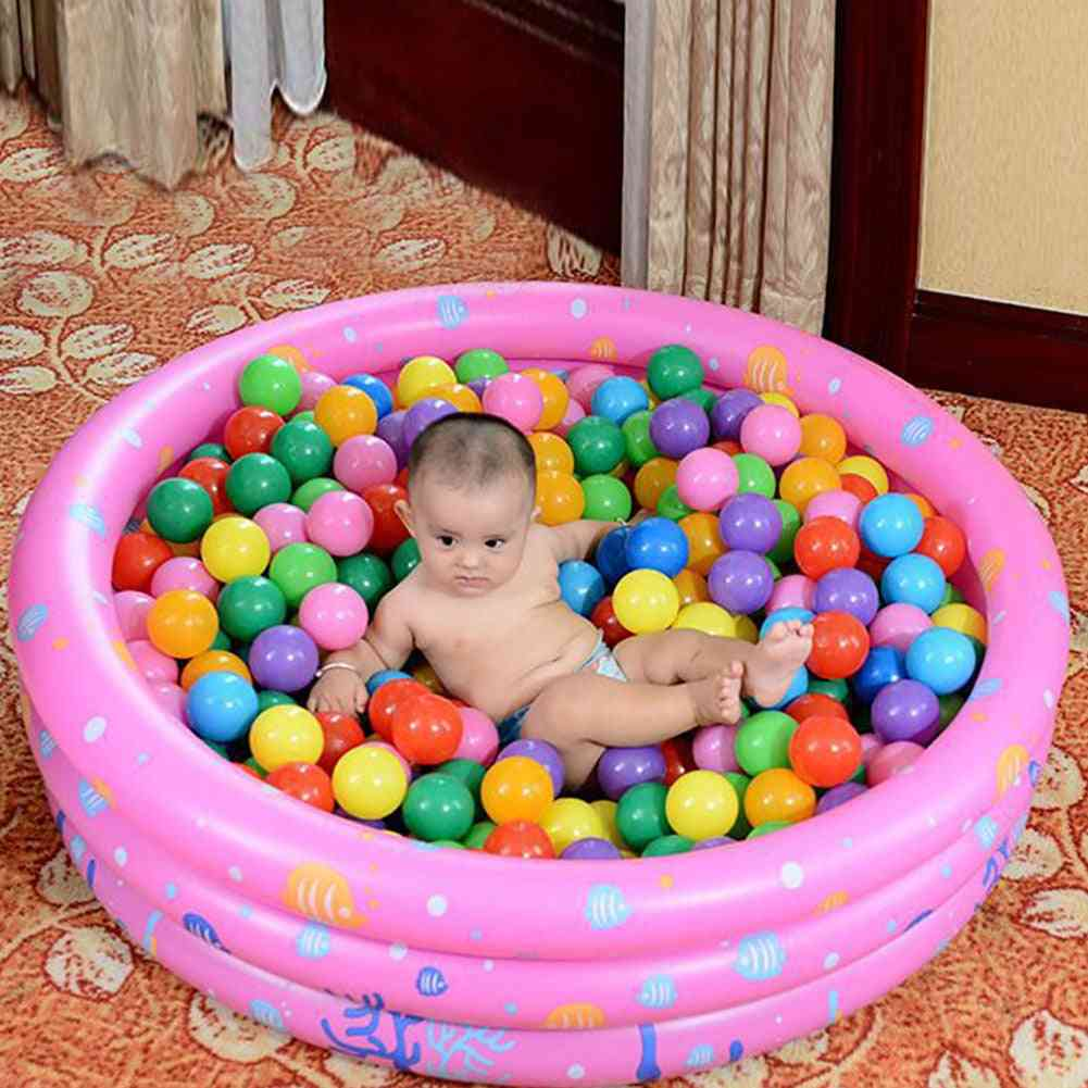 Portable Indoor / Outdoor Baby Swimming Pool Inflatable Basin Bathtub Ocean Ball For
