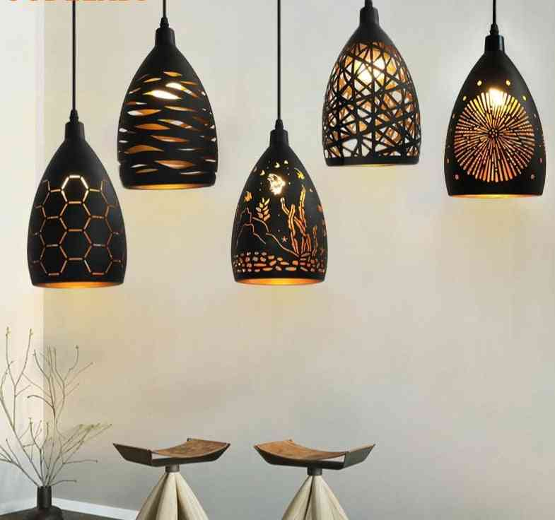 Led Iron Hollow Metal Cage Pendant Light For Home/restaurant Decoration