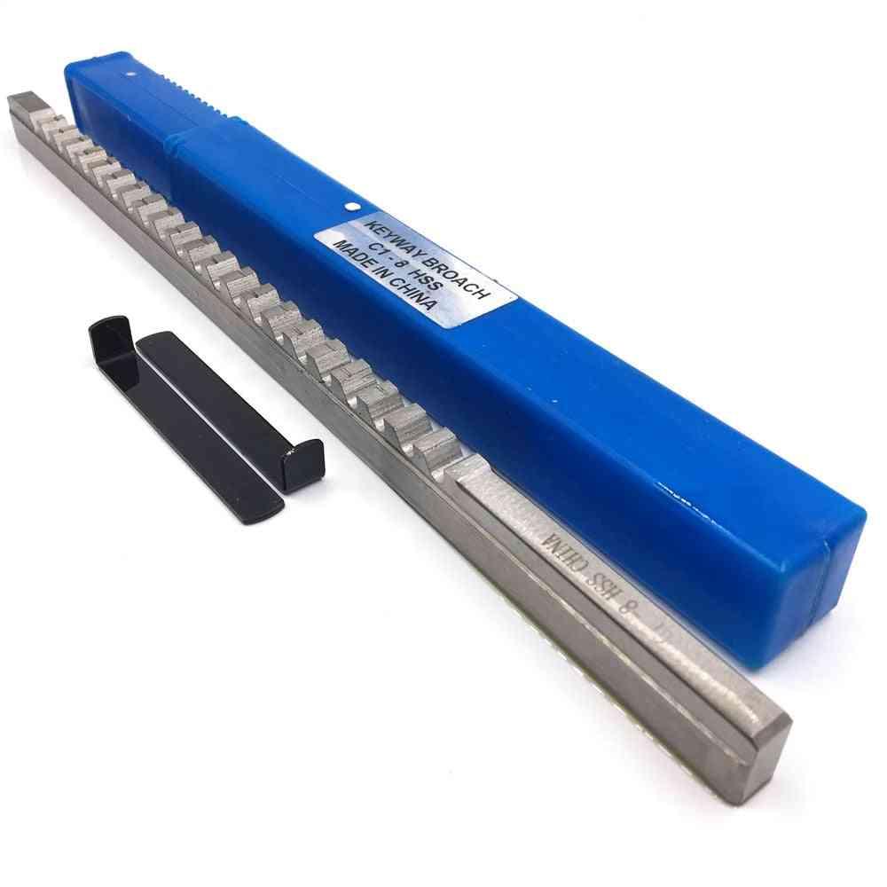 Metric Size Broaches High Speed Steel Keyway Cutting Broaching Tools