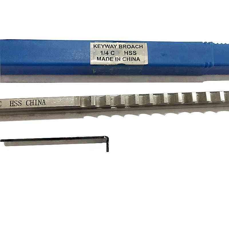 1/4 C Push-type Keyway, Broach Hss Cutter, Cnc Machine Tool