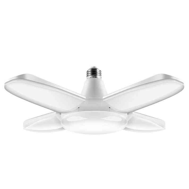 38w Lampada Led Light, Bulb Foldable Fan, Blade Lights For Living Room, Garage Light