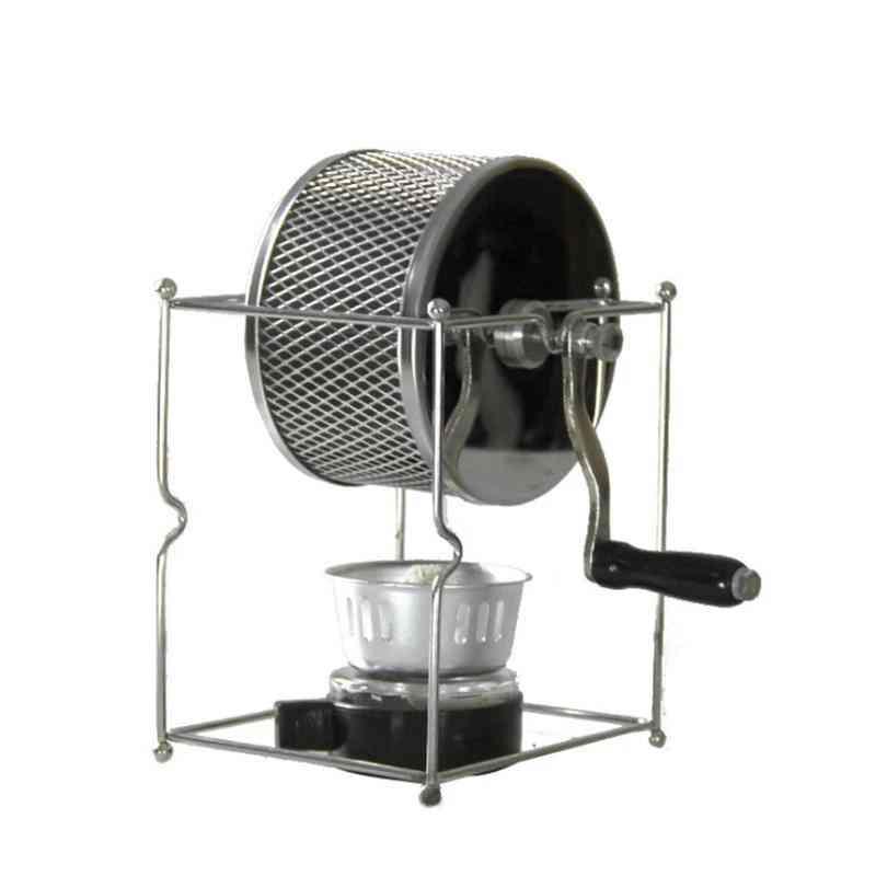 Stainless Steel- Handuse Coffee Bean Roaster With Burner Machine