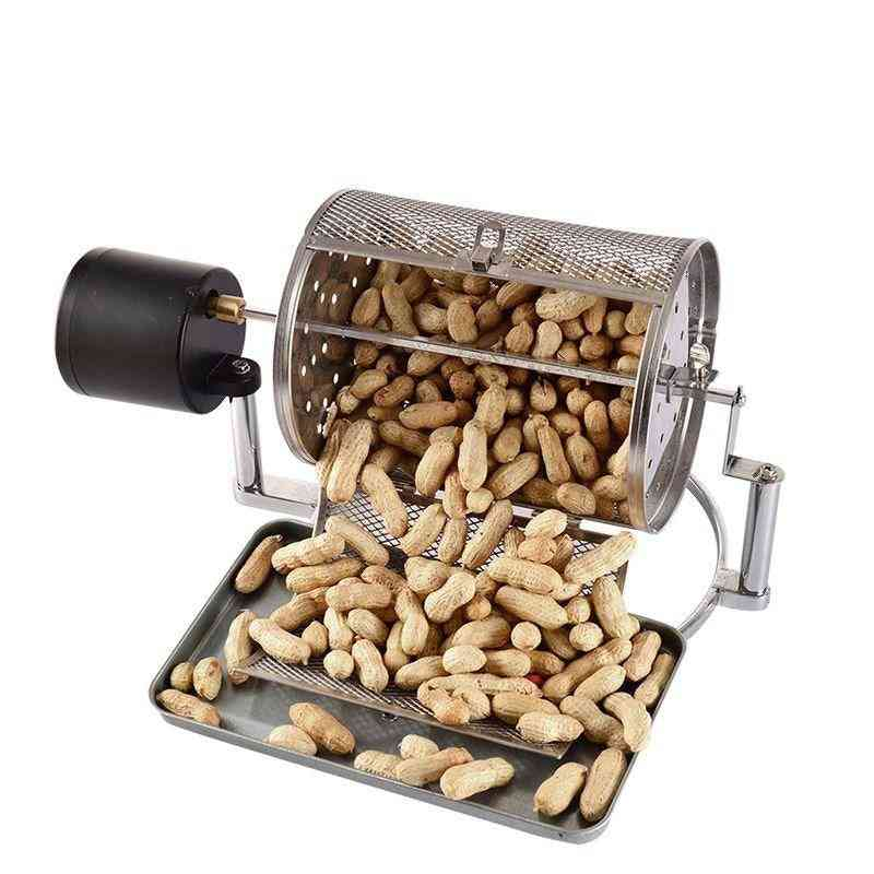 Stainless Steel- Electric Coffee Roaster & Bean Roast Popcorn, Nuts Grains Machine