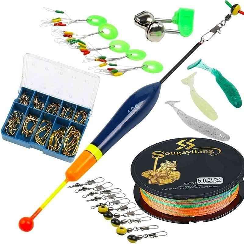 Telescopic Fishing Sea Rod, Spinning Reel & Fishings Baits Hook Full Kit