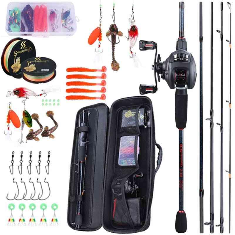 Portable Travel Fishing Combo Casting Fishings Rod