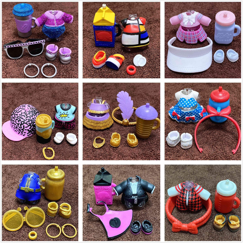 1-set Clothes Shoes, Bottles Dress, Suit Accessories