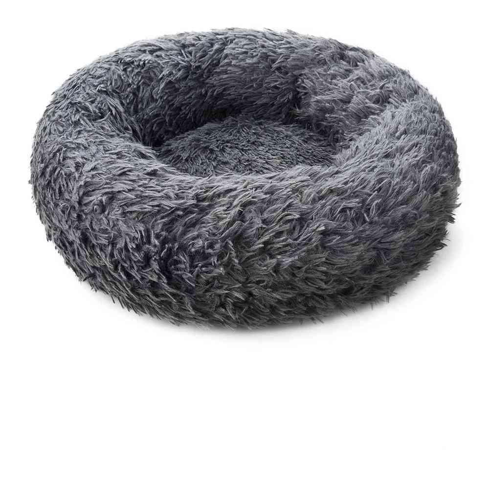 Round Soft Long Plush Cat Mat