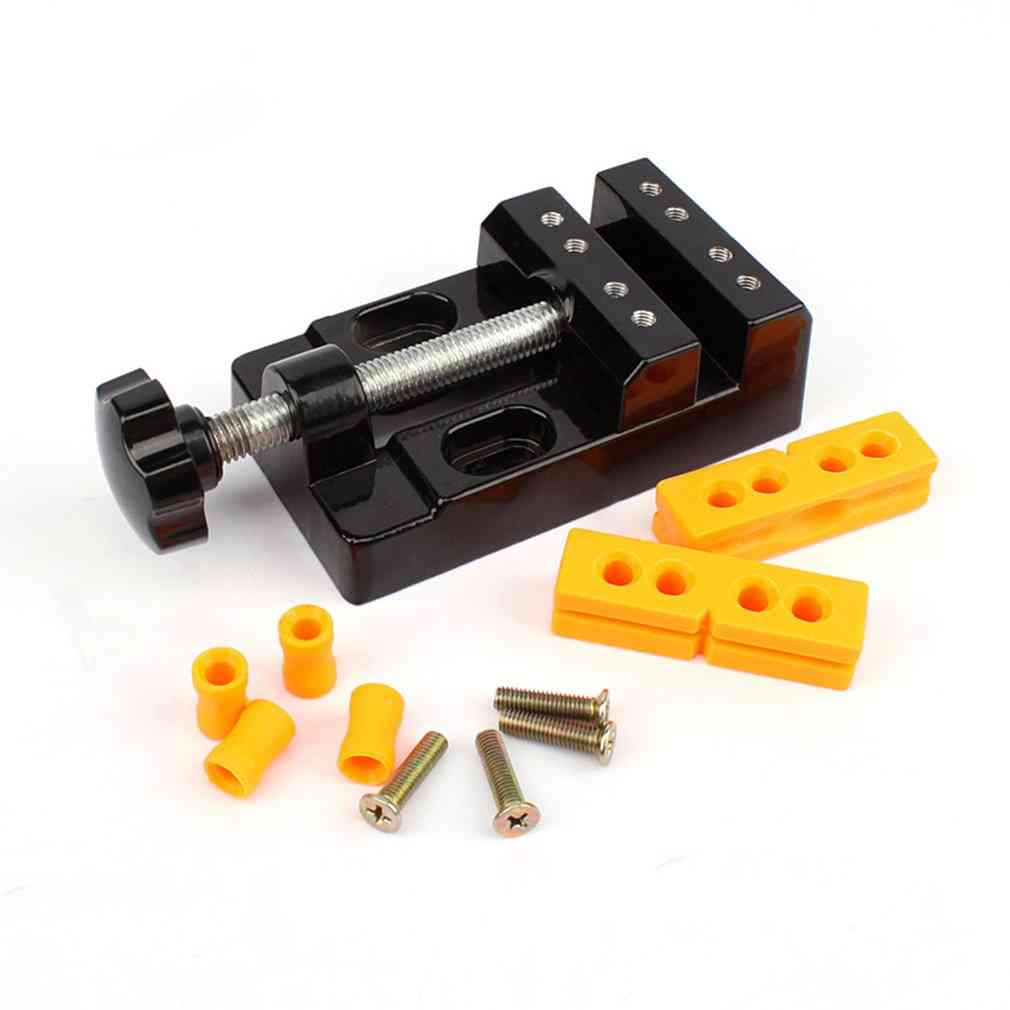 Adjustable Mini Jaw Bench Clamp Drill Press Table Vise