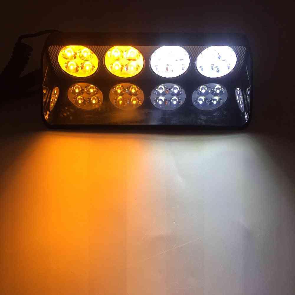 Led Car Strobe Windshield Sucker Scoop Police Flashing Warning Lights