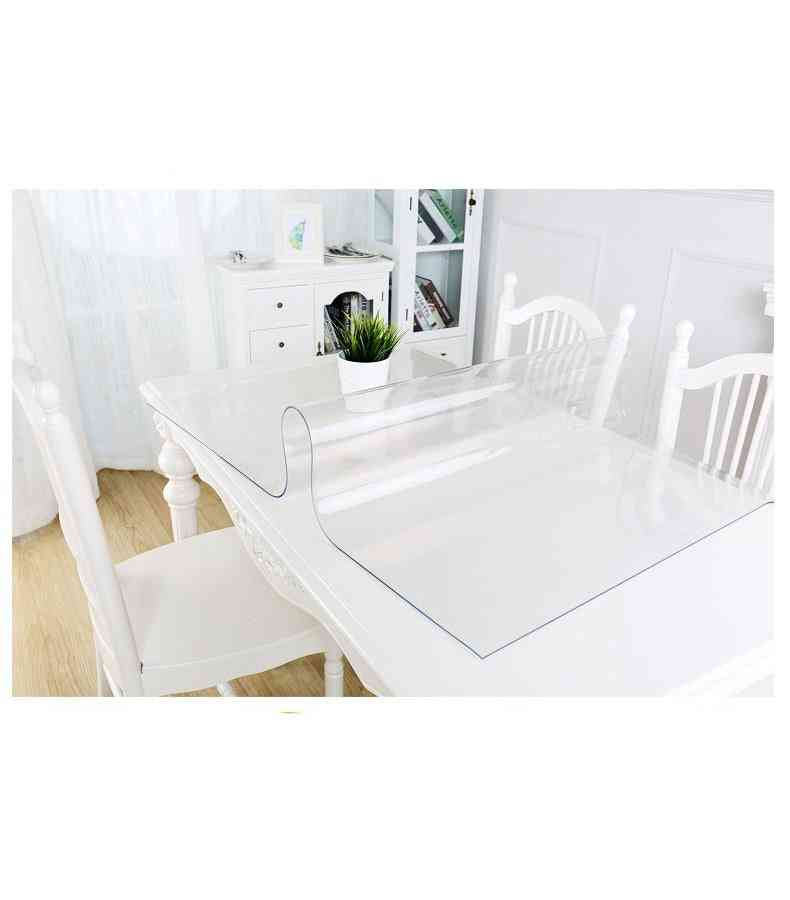 Waterproof Tablecloth, Scrub Transparent Cover