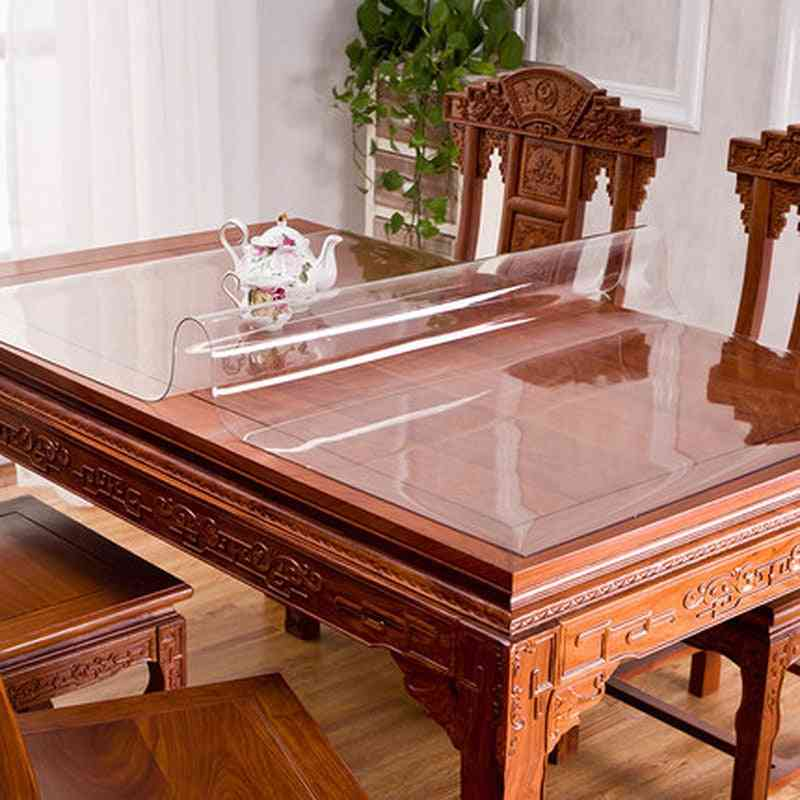 Waterproof- Cushion Kitchen Pattern, Linoleum Glass, Soft Tablecloth Set-1