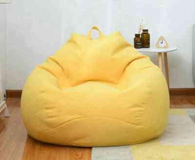 Lazy Sofa Cover Chair Linen Lazy Seat Bean Bag