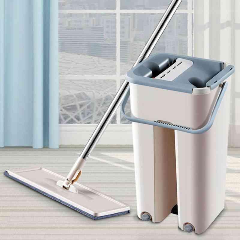 Automatic Mop And Bucket, Microfiber Wooden Floor