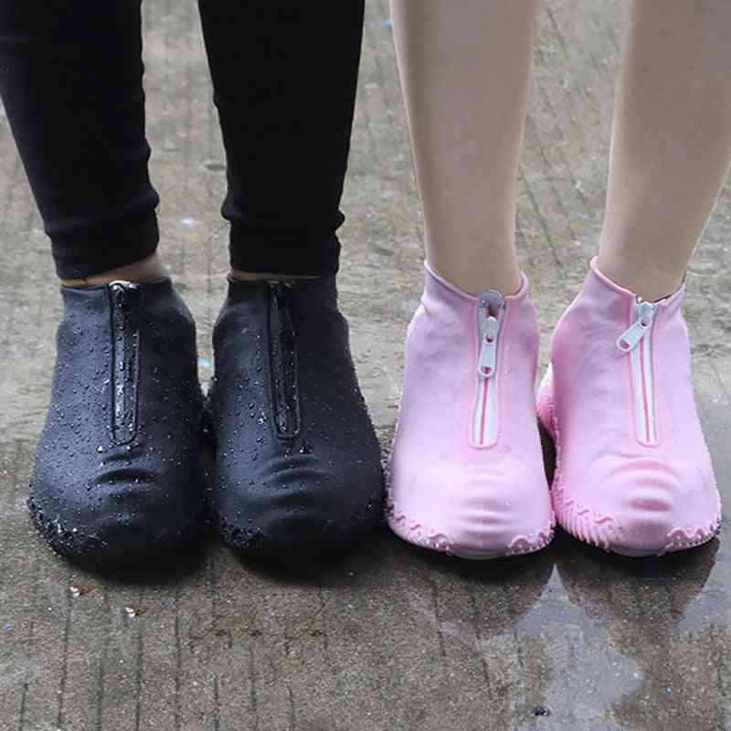Spring Fashion Reusable Shoe Cover, Waterproof Zipper Covers