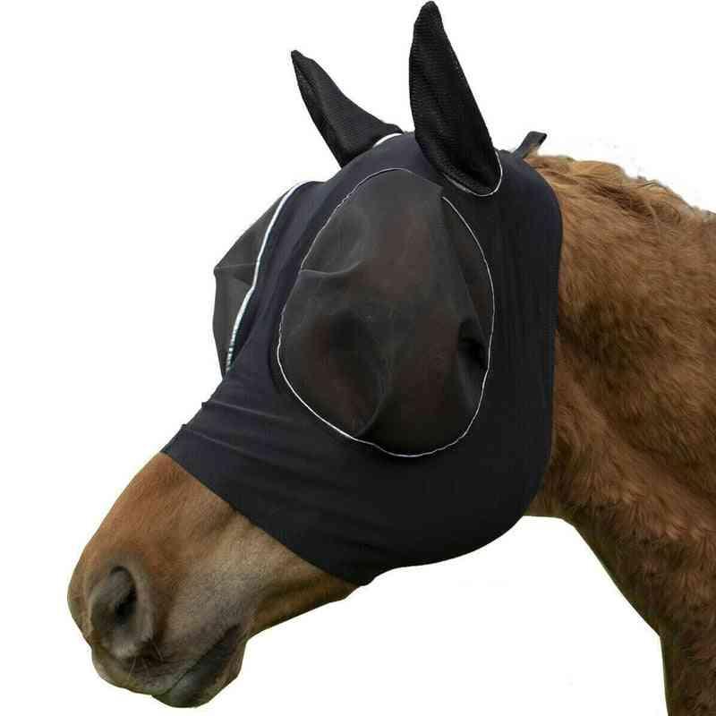 Anti-fly Anti-mosquito, Adjustable Mesh Horse Mask