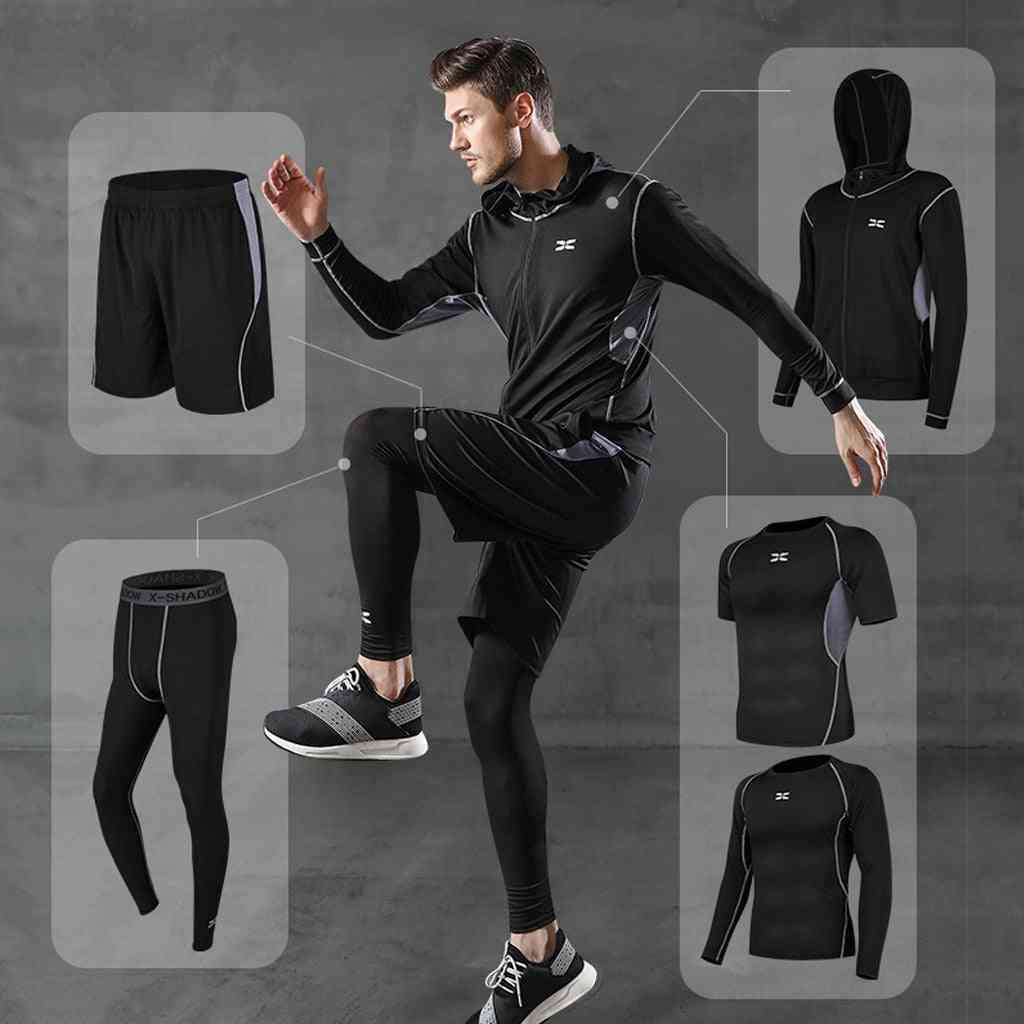 Men's Tracksuit, Gym Fitness Compression Sports Suit Clothes