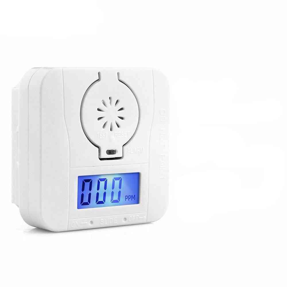 Carbon Monoxide, Detector Warning Smoke Alarm, Sensor Lcd, Battery Power