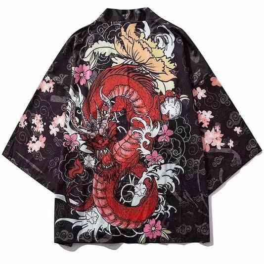 Print Cardigan, Yukata Obi Clothes, Samurai Shirt