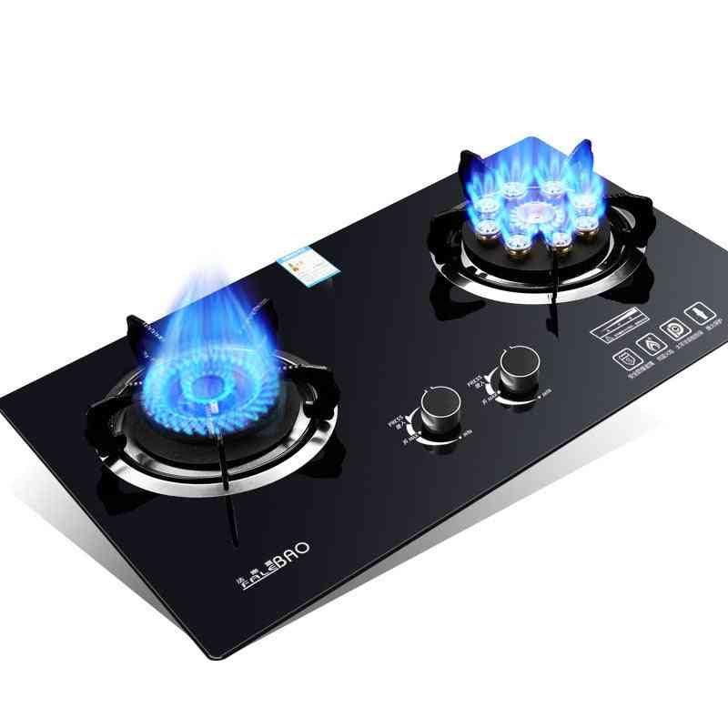 Energy-saving, Dual-cooker Bulit-in Gas Hobs Intense Fire For Kitchen