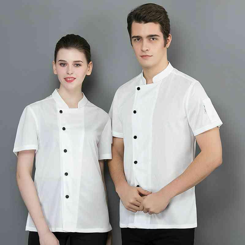 Summer- Short Sleeve, Mesh Chef Shirt, Cook Jacket & Women