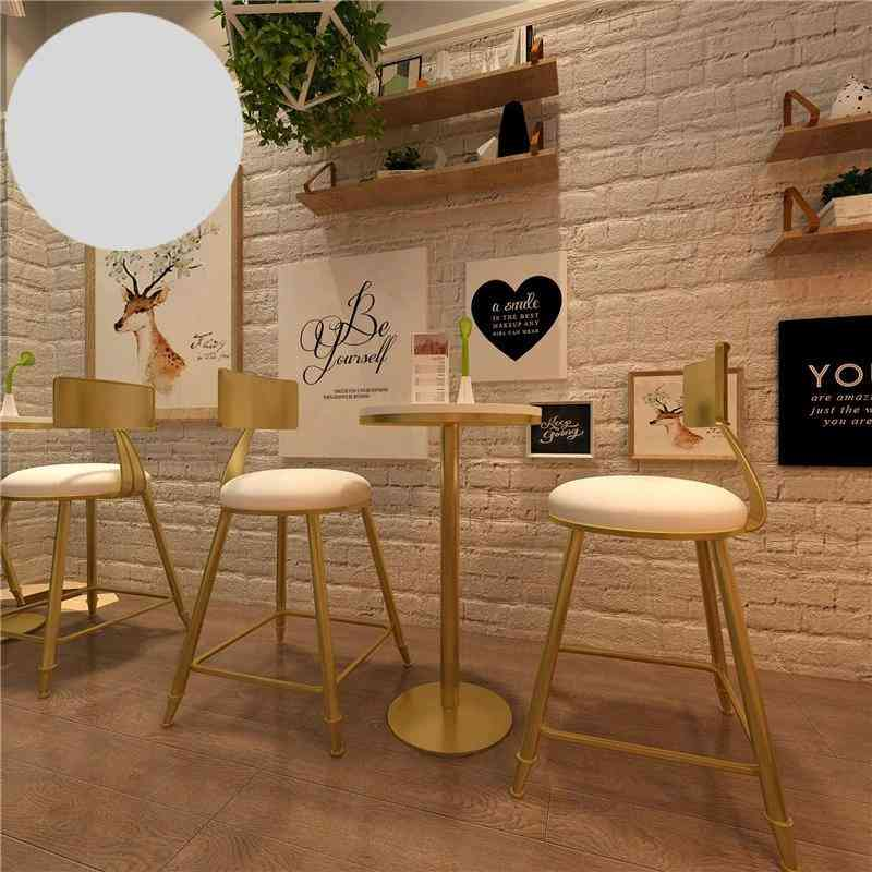 Nordic Dining, High Foot, Solid Wood, Small Round Table